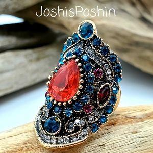 18k gold boho turkish antique ring